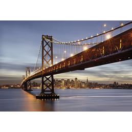 KOMAR Foto-Papiertapete »Bay Bridge«, Breite 368 cm, inkl. Kleister