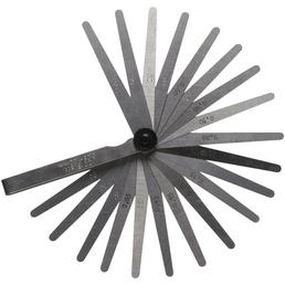 CONNEX Fühlerlehre, Metall, 0,05 - 1 mm, 20 Blatt
