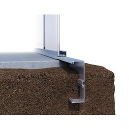 KGT Fundament für Gewächshaus »Rose«, Aluminium, BxL: 233 x 217 cm
