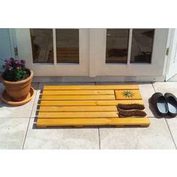 PROMADINO Fußabtreter, BxH: 80 x 4 cm, braun, Holz