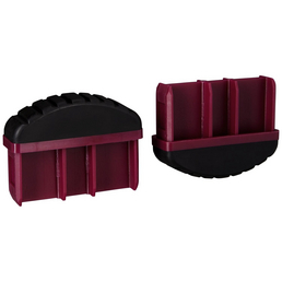 KRAUSE Fußstopfen, BxHxT: 7,15 x 5,5 x 2 cm, Kunststoff, schwarz/violett