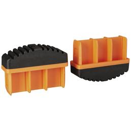 KRAUSE Fußstopfen, BxHxT: 7,7 x 5,7 x 2,5 cm, Kunststoff, schwarz/orange
