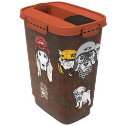 ROTHO MYPET Futterbehälter »vintage«, BxHxL: 17,9 x 32,2 x 24,3 cm, Kunststoff