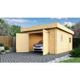 KARIBU Garage »Blockhausgarage«, B x T: 387 x 571,5 cm (Außenmaße)