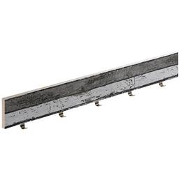 HETTICH Garderobe, Schwarz, 5 Haken, Holz/Zinkdruckguss, Schwarz, Holz, 100 x 750 x 25 mm