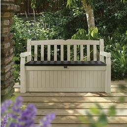 KETER Gartenbank »Garden Bench«, BxHxT: 133 x 19 x 76 cm, braun/beige