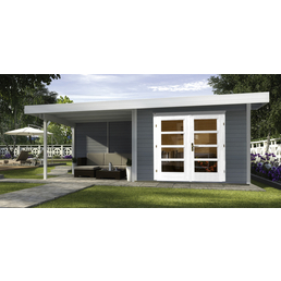 Gartenhaus »Designhaus 126 B Gr.1«, BxT: 645 x 314 cm (Aufstellmaße), Flachdach