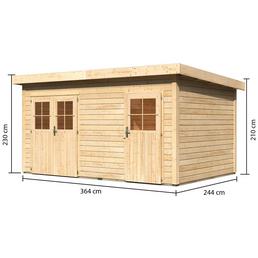 woodfeeling gartenhaus mattrup b x t 456 x 303 cm. Black Bedroom Furniture Sets. Home Design Ideas