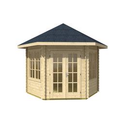 SKANHOLZ Gartenhaus, sechseckig, BxT: 350 x 373 cm, inkl. Dacheindeckung