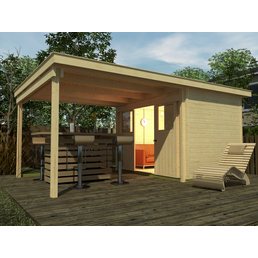 weka gartenhaus set loungehaus gr 5 b x t 559 x 338 cm. Black Bedroom Furniture Sets. Home Design Ideas