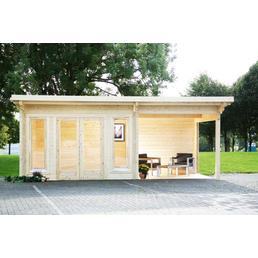 WOLFF Gartenhaus »Trondheim 70-A XL«, B x T: 780 x 390 cm, Pultdach