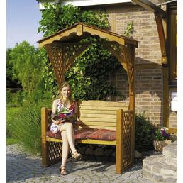 PROMADINO Gartenlaube, B x L x H: 142  x 80  x 220  cm, Kiefernholz/Baumwolle