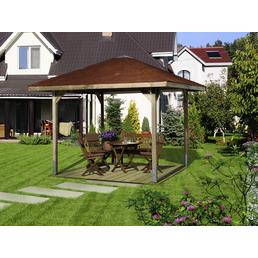 WEKA Gartenlaube »Gartenoase 651 Gr.3«, BxT: 380 x 380 cm (Aufstellmaße), Satteldach
