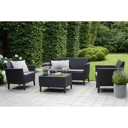 BEST Gartenmöbel »Linosa«, 4 Sitzplätze, inkl. Auflagen