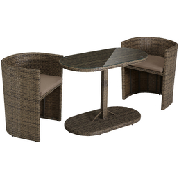 MERXX Gartenmöbelset »Ancona«, 2 Sitzplätze, inkl. Auflagen