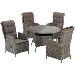 MERXX Gartenmöbelset »Riviera«, 4 Sitzplätze, inkl. Auflagen