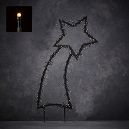 Luca Lighting Gartenstecker, sternförmig, ø: 60 cm, Netzbetrieb