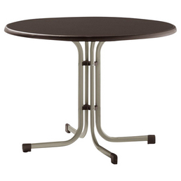 SIEGER Gartentisch mit Mecalit®-pro-Tischplatte, Ø 100 cm