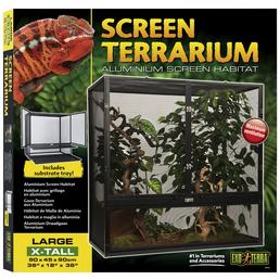 EXO TERRA Gaze Terrarium, Screen Terrarium, 90 x 45 x 90 cm, 1x Substratwanne enthalten