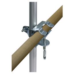 TRIXIE Geländer-Klemme, mit Teleskopstange, Aluminium   verzinkt, Silber