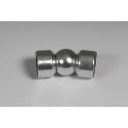 DIEDA Geländer, LxH: 22,5 x 4,05 cm, Ø 4 cm, Silber, Aluminium