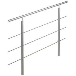TREBA FREWA Geländersystem, AluTop, Silber, Schraubmontage, 121,5 x 150 cm