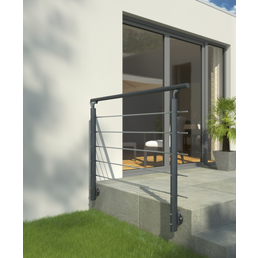 DOLLE Geländersystem, Prova, Anthrazit, Wandmontage, 100 x 150 cm