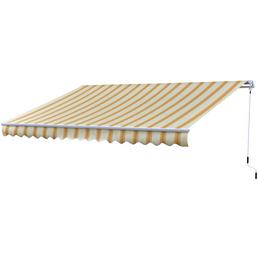 GO/ON! Gelenkarmmarkise, BxT: 383,5 x 250 cm, zitronengelb/orange gestreift