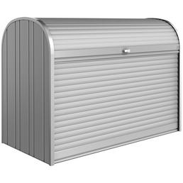 BIOHORT Gerätebox »StoreMax«, BxHxT: 190 x 136 x 97 cm, silber-metallic