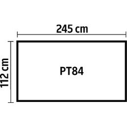 PERGART Gerätehaus, Außenmaße B x T: 245  x 112  cm