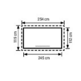 PERGART Gerätehaus, B x T (Außenmaße): 245  x 112  cm