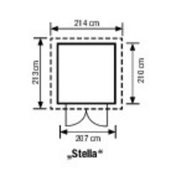 LIFETIME Gerätehaus »Stella«, B x T x H: 215 x 214 x 228 cm