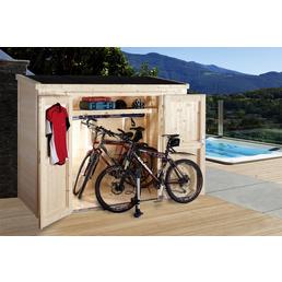 WOLFF FINNHAUS Geräteschrank »Premium Gartenschrank«, BxT: 246 x 119 cm, Pultdach
