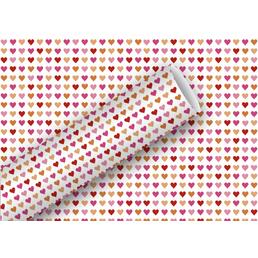 Geschenkpapier Heart to Heart, 2m x 70 cm, rot