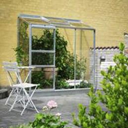 HALLS Gewächshaus »Altan«, 1,34 m², Aluminium/Glas, winterfest