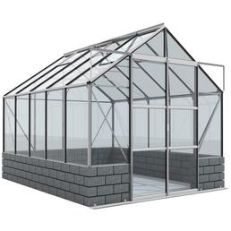 VITAVIA Gewächshaus »Cassandra«, 8,3 m², Stein/Aluminium/ESG Glas, winterfest
