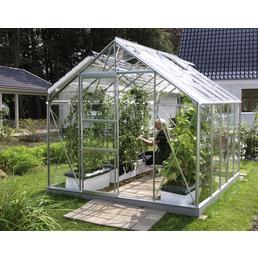 Gewächshaus »Merkur«, 8,3 m², Aluminium/ESG Glas, winterfest