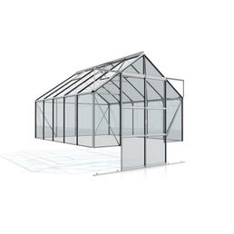 VITAVIA Gewächshaus Set »Cassandra«, BxHxL: 257 x 155 x 323,1 cm, Aluminium