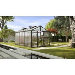 VITAVIA Gewächshaus »Zeus«, B x L x H: 258,4  x 465,2  x 250,4  cm, aluminium|polycarbonat_pc