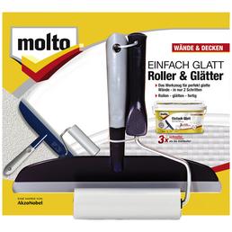 MOLTO Glätter und Roller, Set, Kunststoff, Grau | Blau, 20 cm