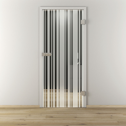 NOVADOORS Glasdrehtür »NOVA 512«, mattiert, Höhe: 197,2  cm