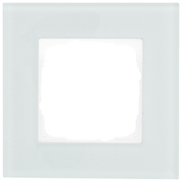 Glasrahmen, IP20, 1-fach, alle Schalterprogramme mit dem Maße 55x55 mm, Kunststoff   Glas, Mint