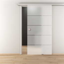 NOVADOORS Glasschiebetür »NOVA 503«, mattiert, Höhe: 205,8  cm