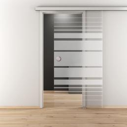 NOVADOORS Glasschiebetür »NOVA 509«, mattiert, Höhe: 205,8  cm