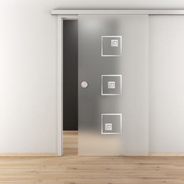 NOVADOORS Glasschiebetür »NOVA 587«, mattiert, Höhe: 205,8  cm