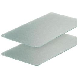 ZELLER Glasschneideplatten, mit Rutschfeste Silikonfüße, Glas