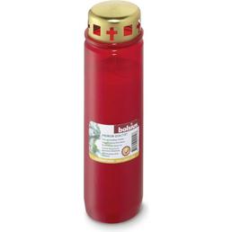 Bolsius Grablicht »Nr.9 rot «, Ø 6,7 cm, Höhe: 23 cm, Grablicht mit Deckel