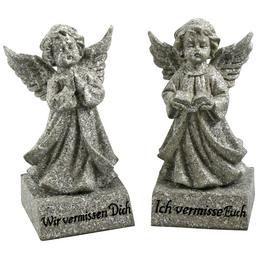 Goldbach Grabschmuck, BxH: 10 x 25 cm, Polyresin, grau