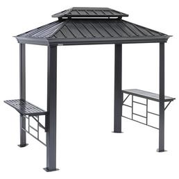 SOJAG Grillpavillon »Messina BBQ«, Doppeldach, rechteckig, BxT: 292 x 179 cm, inkl. Dacheindeckung