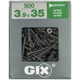 SPAX Grobgewindeschraube, 3,9 mm, Stahl, 500 Stk., GIX B 3,9x35 XL